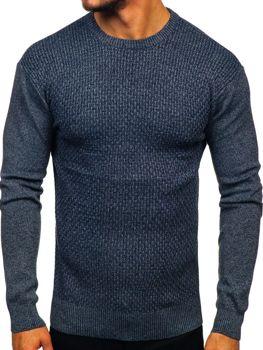 Tmavě modry pánsky svetr Bolf 8512