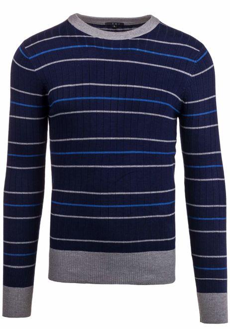 Tmavě modrý pánský svetr Bolf 9015
