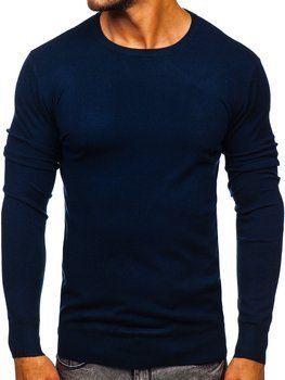 Tmavě modrý pánský svetr Bolf YY01