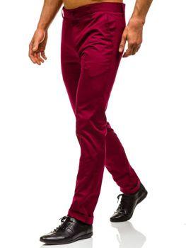 Vínové pánské chino kalhoty Bolf 0204