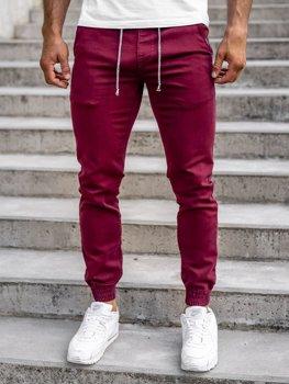 Vínové pánské jogger kalhoty Bolf CT8808