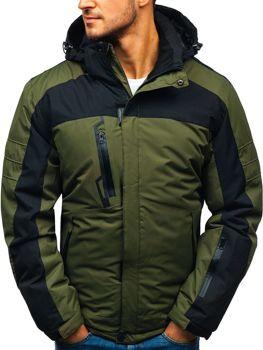 Zelen pánská zimní lyžářská bunda Bolf HZ8112