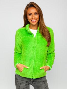 Zelená dámská fleecová mikina Bolf HH006