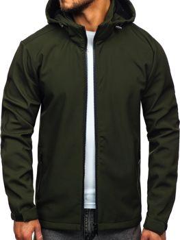 Zelená pánská softshellová přechodová bunda Bolf 56008
