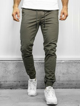 Zelené pánské jogger kalhoty Bolf KA951