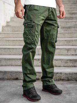 Zelené pánské kapsáče plus size s páskem Bolf CT8901