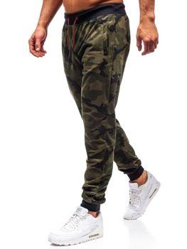 Zelené pánské maskáčové jogger tepláky Bolf MK19