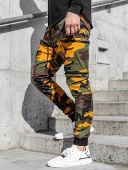 Zeleno-oranžové pánské jogger kapsáče Bolf 0475