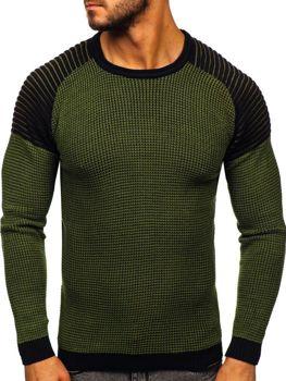 Zelený pánský svetr Bolf 0004