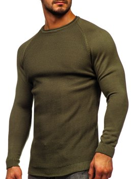 Zelený pánský svetr Bolf 1009