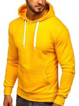 Žlutá pánská mikina s kapucí Bolf 1004