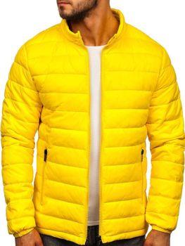 Žlutá pánská prošívaná zimní bunda Bolf 1119