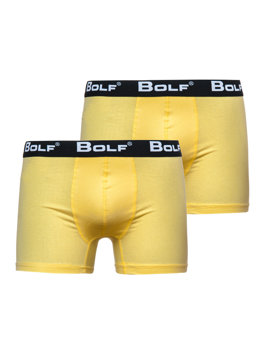 Žluté pánské boxerky Bolf 0953-2P 2 PACK