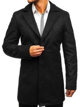 Černý pánský zimní kabát Bolf 5438