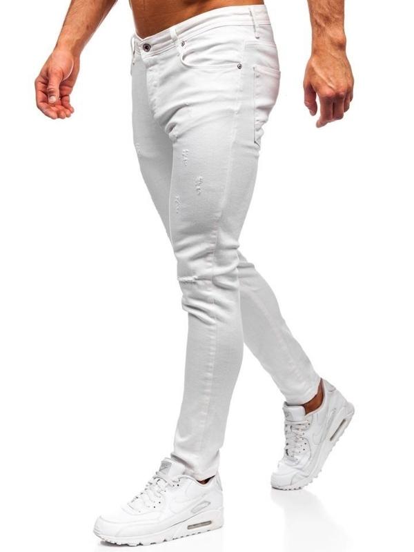 Bílé pánské džínové kalhoty Bolf 55118