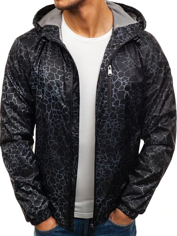 Černá pánská přechodová bunda Bolf 8005