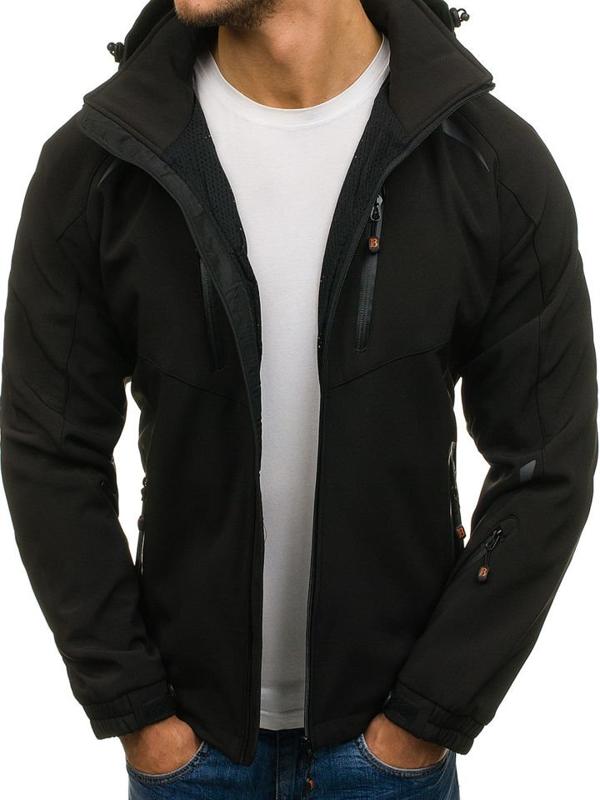 Černá pánská softshellová přechodová bunda Bolf 6601