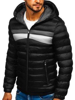 Černá pánská sportovní zimní bunda Bolf 5935