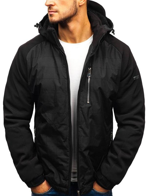 Černá pánská zimní bunda Bolf 5681