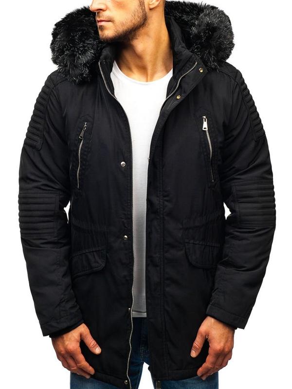 Černá pánská zimní bunda Bolf 88859