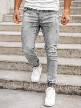 Černé pánské džínové jogger kahoty Bolf KA1828