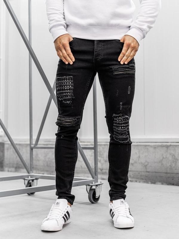 Černé pánské džíny Bolf 1082