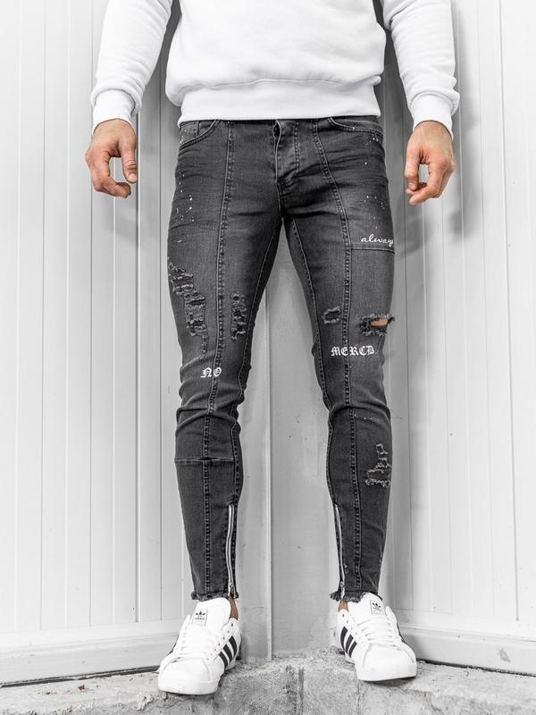 Černé pánské džíny Bolf 1085