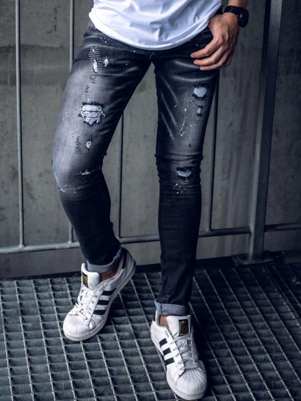 Černé pánské džíny Bolf 9234