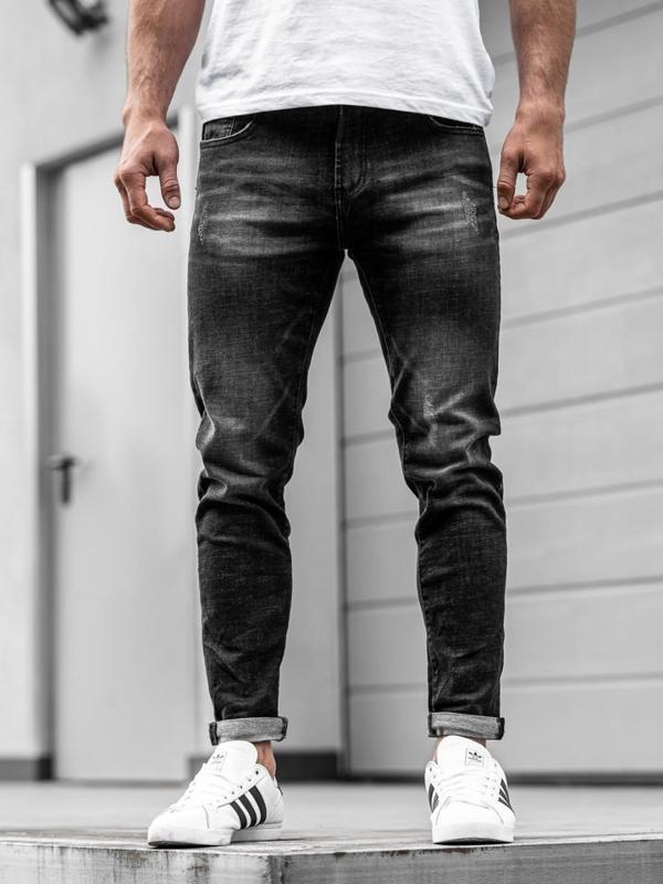Černé pánské džíny Bolf KX169