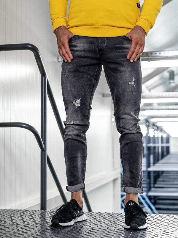 Černé pánské džíny slim fit Bolf KX318