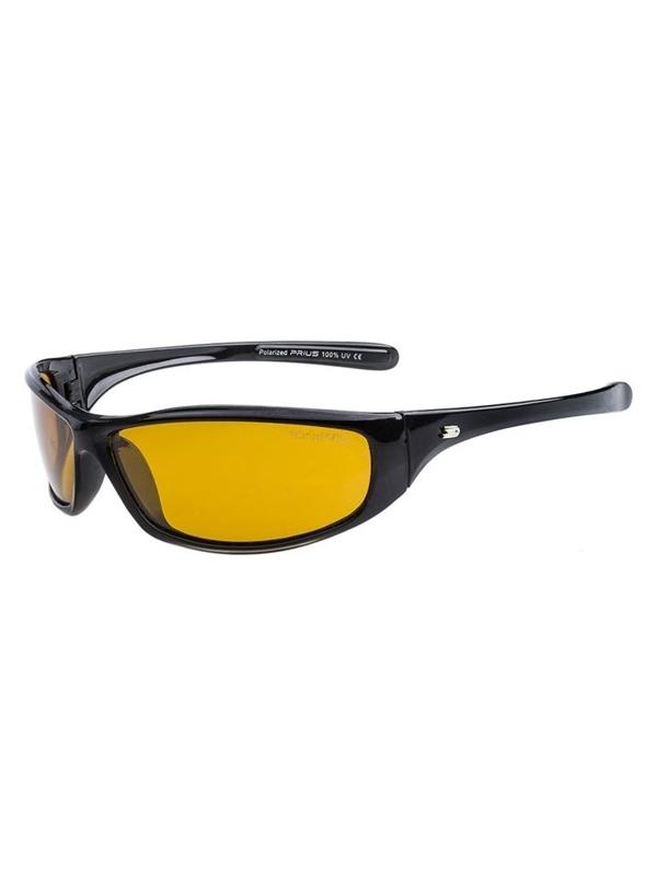 Černé pánské sluneční polarizační brýle Bolf PLS114