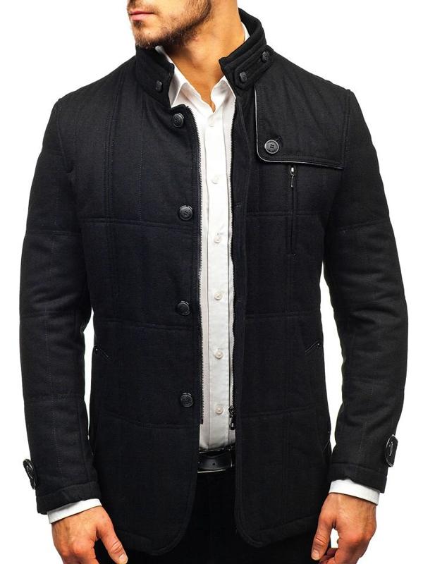 Černý pánský kabát Bolf EX66A