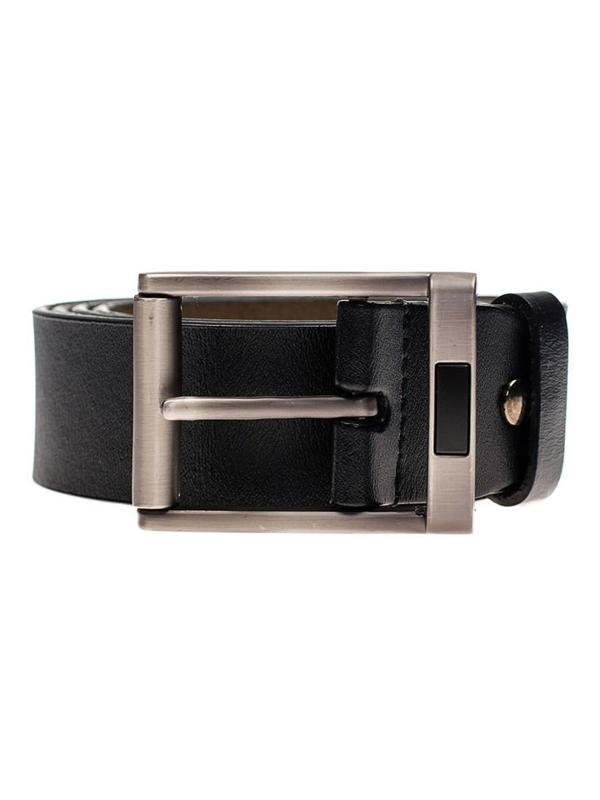 Černý pánský kožený pásek Bolf P008