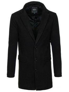 Černý pánský zimní kabát Bolf 1047B