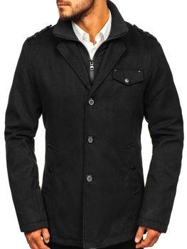 Černý pánský zimní kabát Bolf 8853