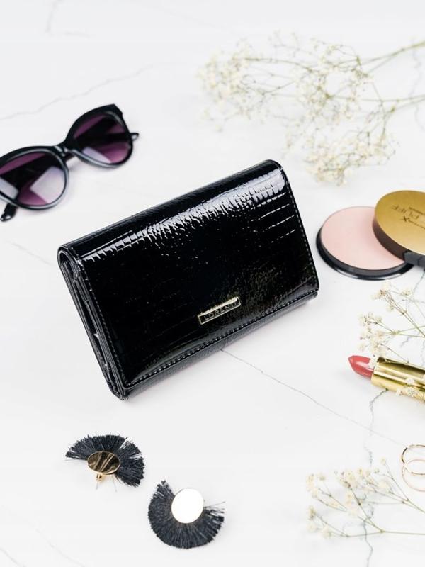Dámská černá kožená peněženka 2092