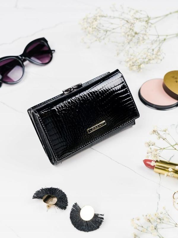 Dámská černá kožená peněženka 2108