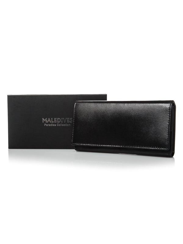 Dámská černá kožená peněženka 2688