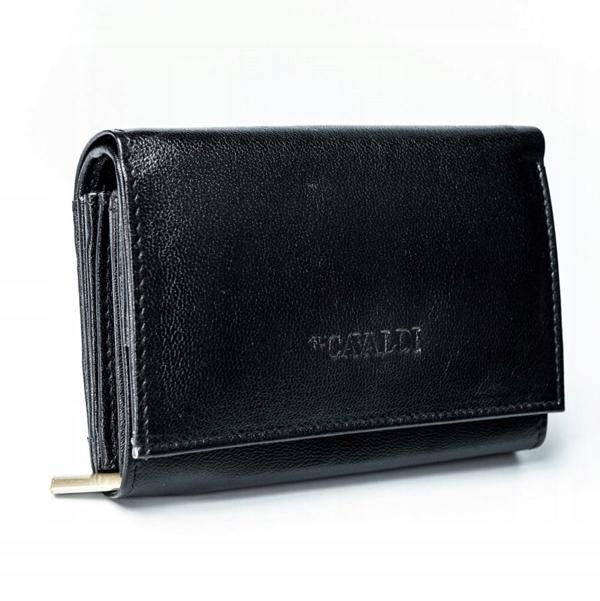 Dámská černá kožená peněženka 2780