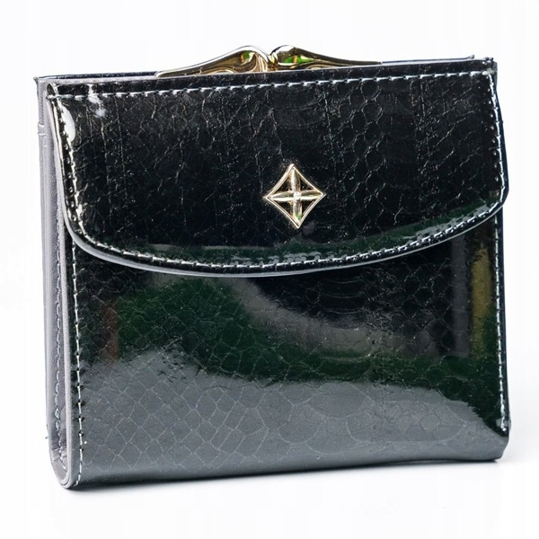 Dámská černá koženková peněženka 2866