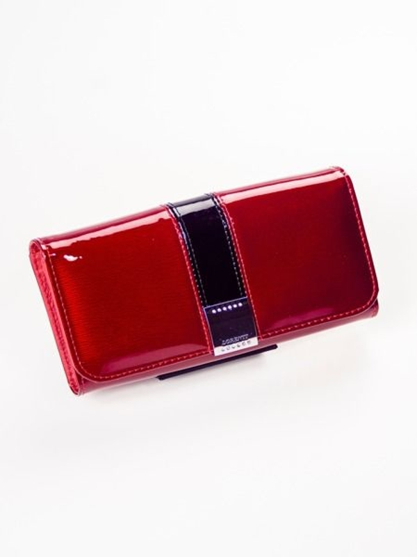 Dámská červená kožená peněženka 1213