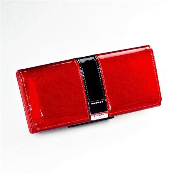 Dámská červená kožená peněženka 1215