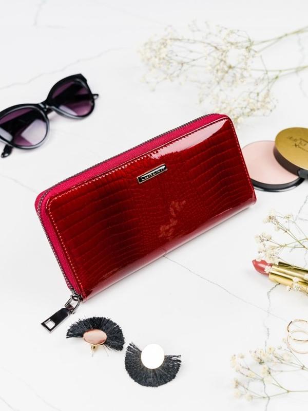 Dámská červená kožená peněženka 2082
