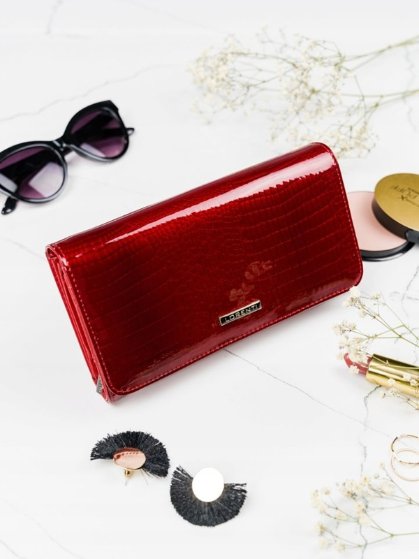 Dámská červená kožená peněženka 2111
