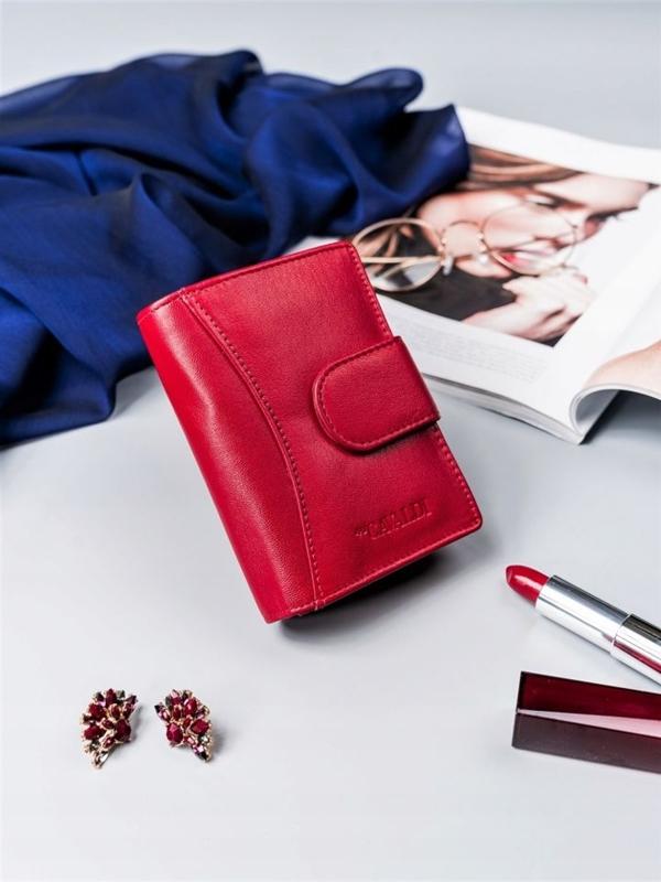 Dámská červená kožená peněženka 2417