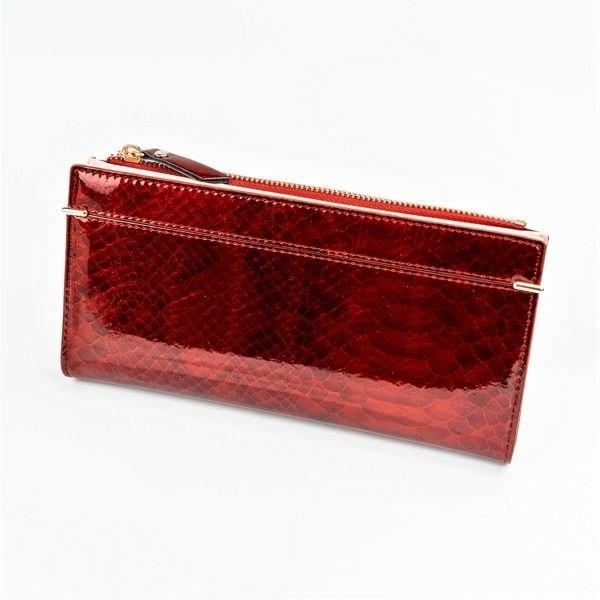 Dámská červená koženková peněženka 1049
