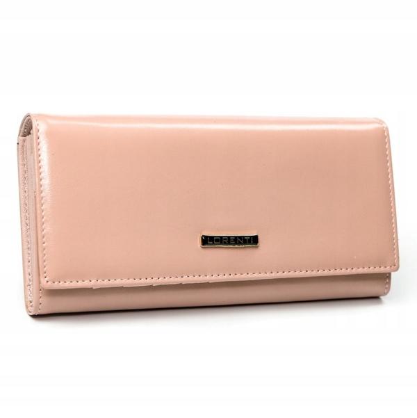 Dámská lososová kožená peněženka 2858