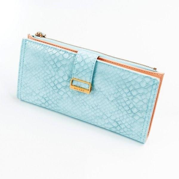 Dámská modrá koženková peněženka 1040