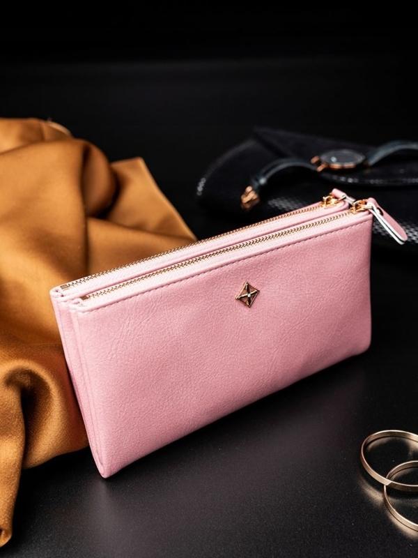 Dámská růžová koženková peněženka 1820
