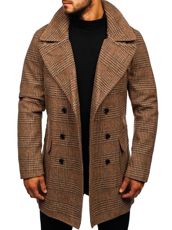 Hnědý pánský zimní kabát Bolf 1117